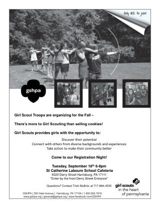 Girl Scout Troops are organizing for the Fall �