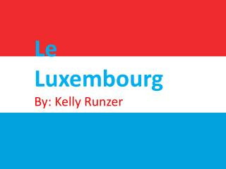 Le Luxembourg By: Kelly  Runzer