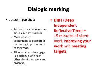 Dialogic marking