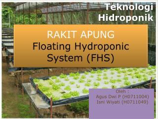Teknologi Hidroponik