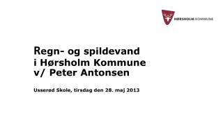 R egn- og spildevand i Hørsholm Kommune v/ Peter Antonsen Usserød Skole, tirsdag den 28. maj 2013