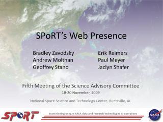 SPoRT's Web Presence