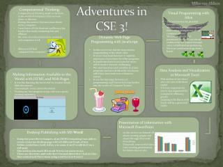 Adventures in CSE 3!