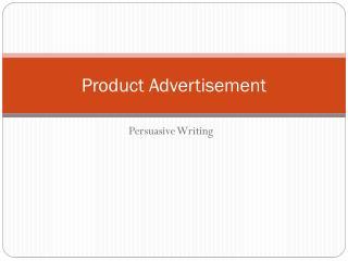 Product Advertisement