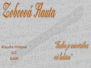 Klaudia  Hirková II.C GJAR