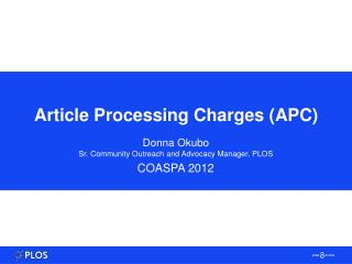 Article Processing Charges (APC)
