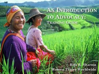An Introduction to Advocacy: Training Guide