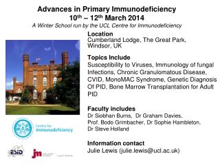 Location Cumberland Lodge, The Great Park, Windsor, UK  Topics Include