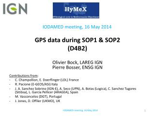GPS data during SOP1 &  SOP2 (D4B2)