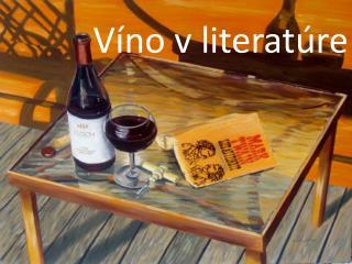 Víno v literatúre