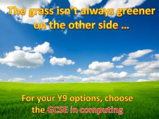 The grass isn't always greener on the other side …