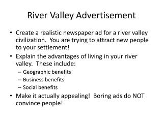 River Valley Advertisement