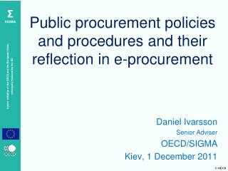 Public procurement policies and procedures and their reflection in e-procurement