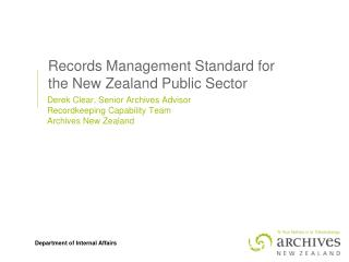 Records Management Standard for the New Zealand Public Sector