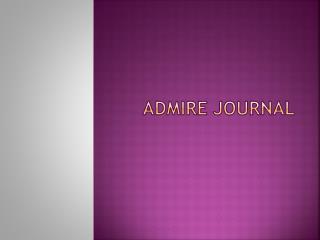 Admire Journal