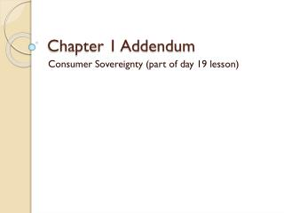 Chapter 1 Addendum