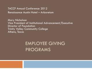 Employee Giving Programs