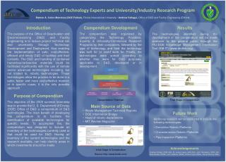 Compendium of Technology  Experts and  University/Industry  Research Program