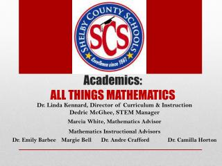 Academics: ALL THINGS MATHEMATICS