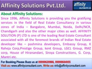BUY - 09999620966 - Pashmina Waterfront apartments -Property