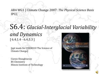 AR4  WG1 |  Climate Change 2007:  The Physical Science Basis IPCC
