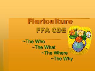 Floriculture FFA CDE