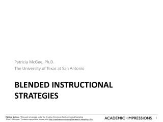 Blended instructional strategies