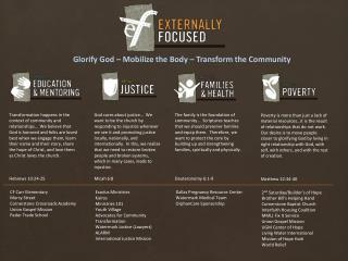 CF Carr Elementary Mercy Street Cornerstone Crossroads Academy Union Gospel Mission