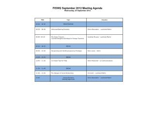 FISWG  September 2012  Meeting  Agenda Wednesday, 26 September 2012
