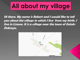 All about my  village