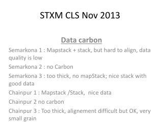STXM CLS  Nov  2013
