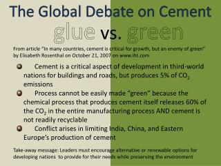glue vs.  green