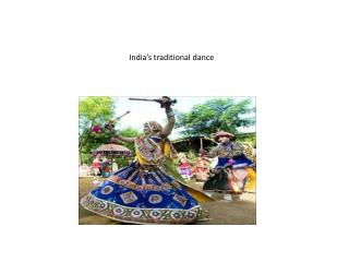 India's traditional dance