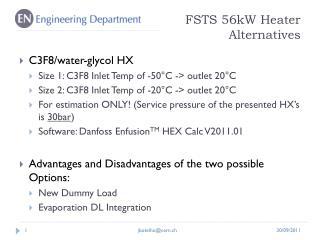 FSTS 56kW Heater Alternatives