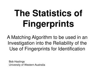 The Statistics of Fingerprints