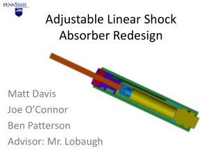Adjustable Linear Shock Absorber Redesign
