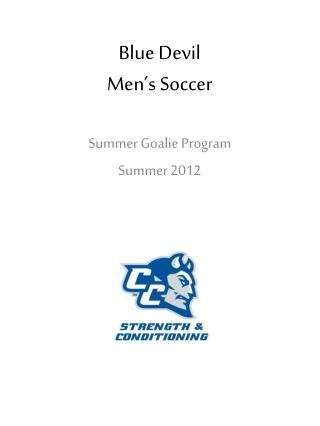 Blue Devil  Men's Soccer