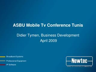ASBU Mobile Tv Conference Tunis
