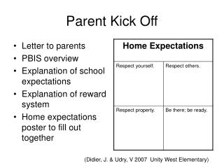 Parent Kick Off