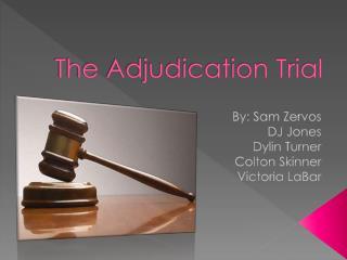 The Adjudication Trial
