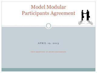 Model Modular  Participants Agreement