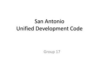 San Antonio Unified Development Code