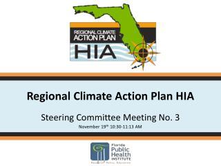 Regional Climate Action Plan HIA