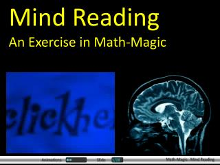 Mind Reading An Exercise in Math-Magic