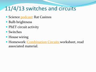 11/4/13 switches  and circuits