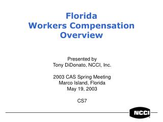Florida Workers Compensation Overview