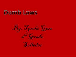 By: Tyreke Gore 6 th Grade Solleder