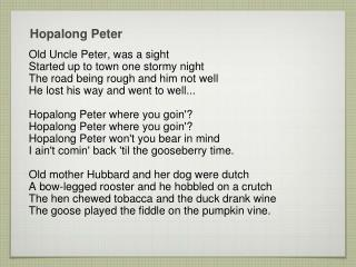 Hopalong  Peter