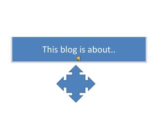 This blog is about..