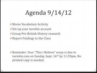 Agenda 9/14/12